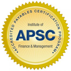 APSC Accounts Payable Certification